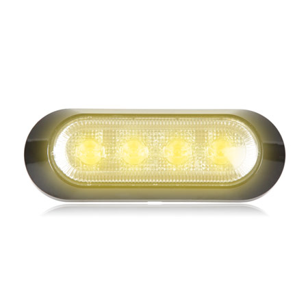 Maxxima M20380WCL-SP White 1.8 Round 3 LED Strobe Light with Clear Lens