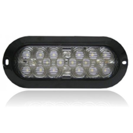 M63326df X 6 Quot Oval Surface Mount 18 Led Dry Fit White Back Up