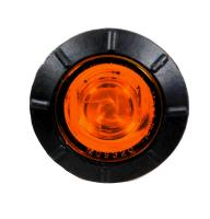 "3/4"" Mini P2 Amber Clearance Marker Light with 1 LED"