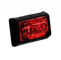 "1.5"" Red Mini P2PC Clearance Marker Light with 3 LEDs"