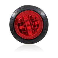 "6 LED 1.25"" Round Red Low Profile Combination P2PC Clearance Marker"