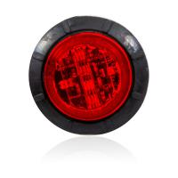 "Mini 1.25"" Round Red 6 LED Low Profile Aux STT/CM P2 Only- Bulk Pack"