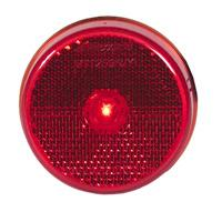 "2 1/2"" Round Red Reflectorized Clearance Marker Light"