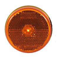 "2 1/2"" Round Amber Reflectorized Clearance Marker Light"