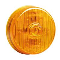 "2 1/2"" Round Amber Combination Marker"