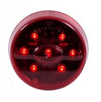 "2 ½"" Round Red LED Clearance Marker Light"