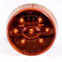 2 �� Round Amber LED Clearance Marker Light