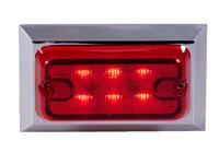 Regtangular Red Clearance Marker Light