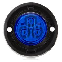 "1.7"" Round Mini Class 1 Emergency Warning Light - Blue"