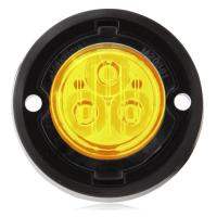 "1.7"" Round Mini Class 1 Emergency Warning Light - Amber"