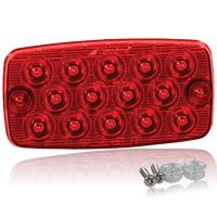 "Surface Mount Low Profile 0.4"" Ultra Thin LED Light - Red Stop/Tail/Turn"