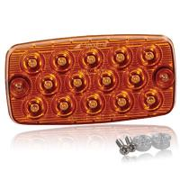"Surface Mount Low Profile 0.4"" Ultra Thin LED Light - Amber Park Rear Turn"