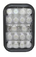 Rectangular White Back-Up Light