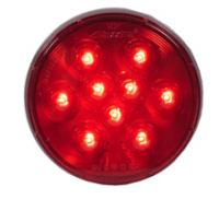 "Lightning 4"" Round Red Stop/Tail/Turn"