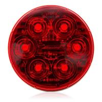 "6 LED Red 4"" Round Stop/Tail/Turn MaxxHeat Lens"