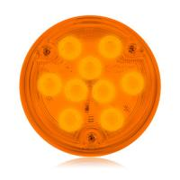 "Low Profile Thin 4"" Round Amber Park / Rear Turn Surface Mount"