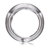 "4"" Round Stainless Steel Security Flange Chrome Finish"