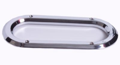 Oval Chrome Plastic Grommet Cover