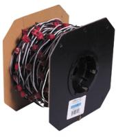"2-Pin 6"" Lean Continuous Wiring Harness - 200 Per Roll"