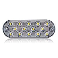 Low Profile Thin Oval White Surface Mount Backup Light