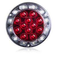 "Hybrid 4"" Round LightningS Low Profile Red STT / Back Up"