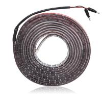 "White LED Adhesive Strip Light 76"" Twin Male .180 Bullet Connectors"