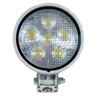 Round Exterior 6 LED Work Light - 550 Lumen - Liquid Silver Housing