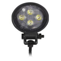 Mini Oval LED Compact Work Light Black Aluminum Housing 1,000 Lumen