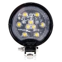 Round 9 LED Black Work Light 500 Lumens 12/24VDC