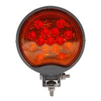 Amber Round Work Light - MaxxHeat Heated Lens