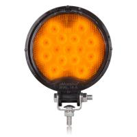 Round 15 LED Amber Work Light 12/24VDC