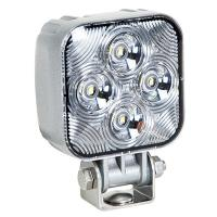 Mini Square LED Work Light - 800 Lumen� 12/24VDC Liquid Silver Housing