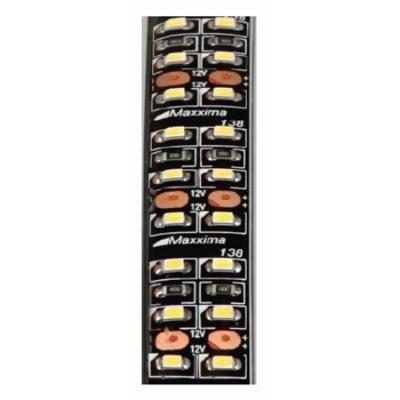 mls d45276 45 white double row led adhesive strip light. Black Bedroom Furniture Sets. Home Design Ideas